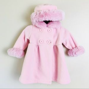 Starting Out Baby Girl Fleece Winter Coat & Hat